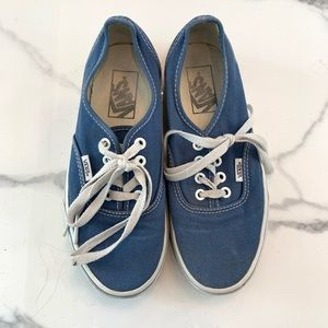 "Classic ""Authentic"" Blue Vans"